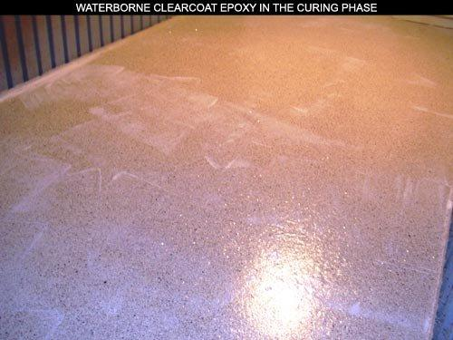 Waterborne Epoxy Clearcoat in curing phase