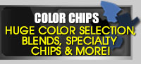 Color Chips epoxy flakes Color Selections