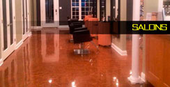 Pure Metallic epoxy salon example