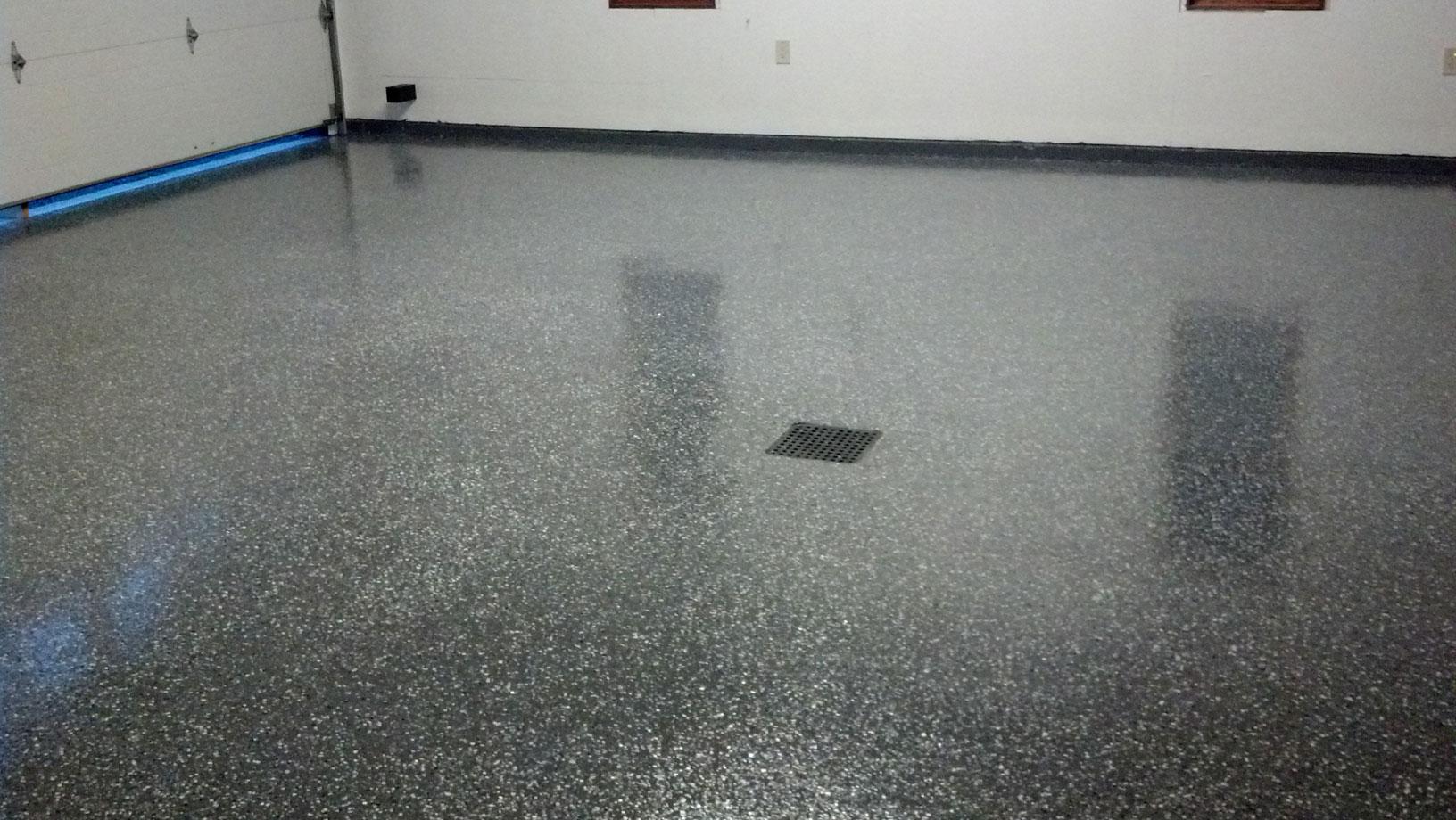 Gray Painted Concrete Floors
