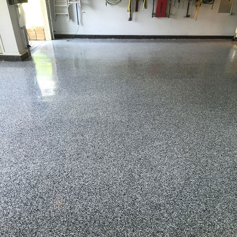 Garage Floor Epoxy Kit - Custom Paint - 2 Car Garage 500sqft Full Broadcast