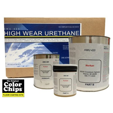 Color Chips HWU 420 High Wear Urethane Clearcoat kit (600 sq/ft) 1 gal