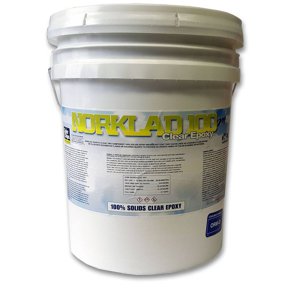 Norklad 100 m 100 solids clear epoxy 350 sq ft for 100 solids epoxy floor coating