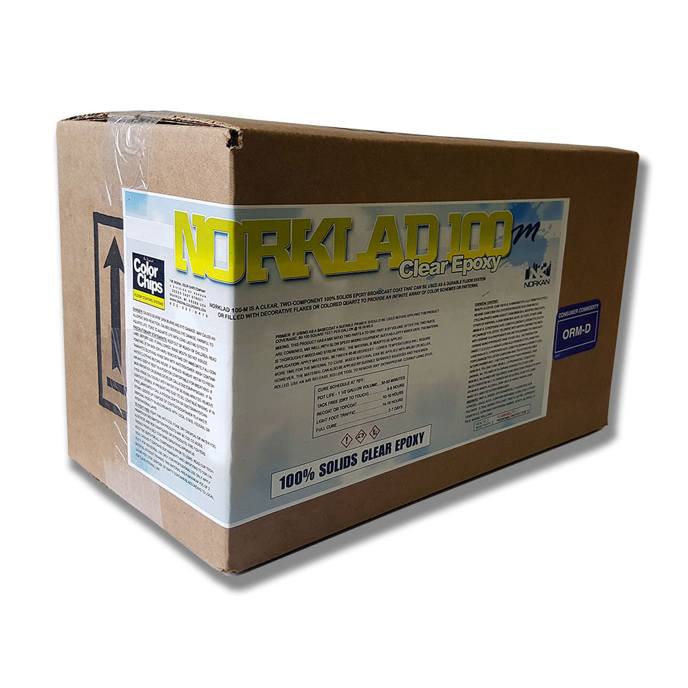 Norklad 100-M / 100% Solids CLEAR epoxy (150+ sq/ft)