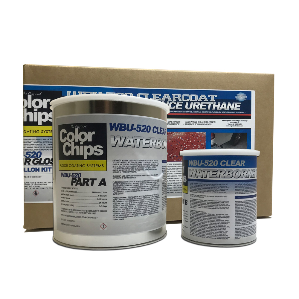 WBU-520 Clear Polyurethane - Water Based Aliphatic 250+ sq/ft