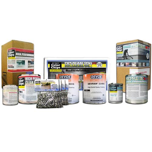 Garage Floor Epoxy Kit - Custom Paint - Solvent Based 400sqft