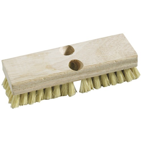 Stiff Bristle Acid Scrub Brush - Industrial Cleaning - 8""