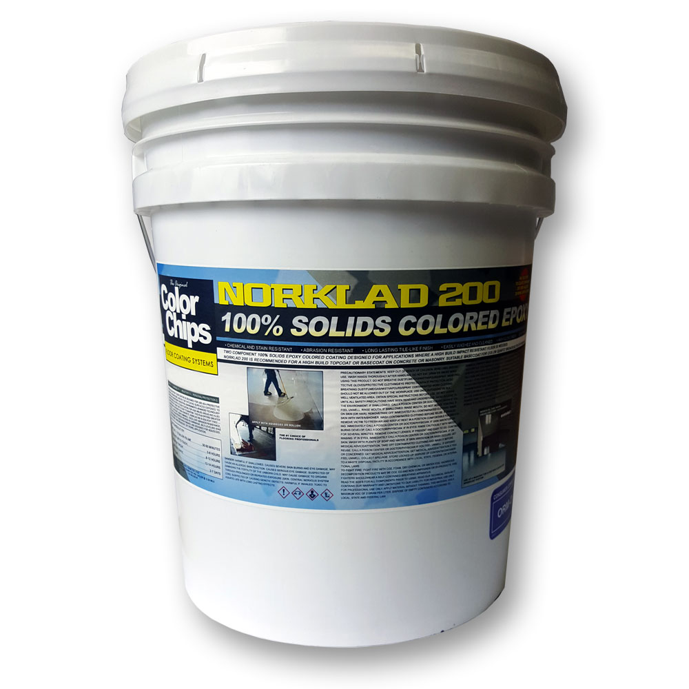 Norklad 200 / 100% Solids COLOR epoxy (300 - 375+ sq/ft)