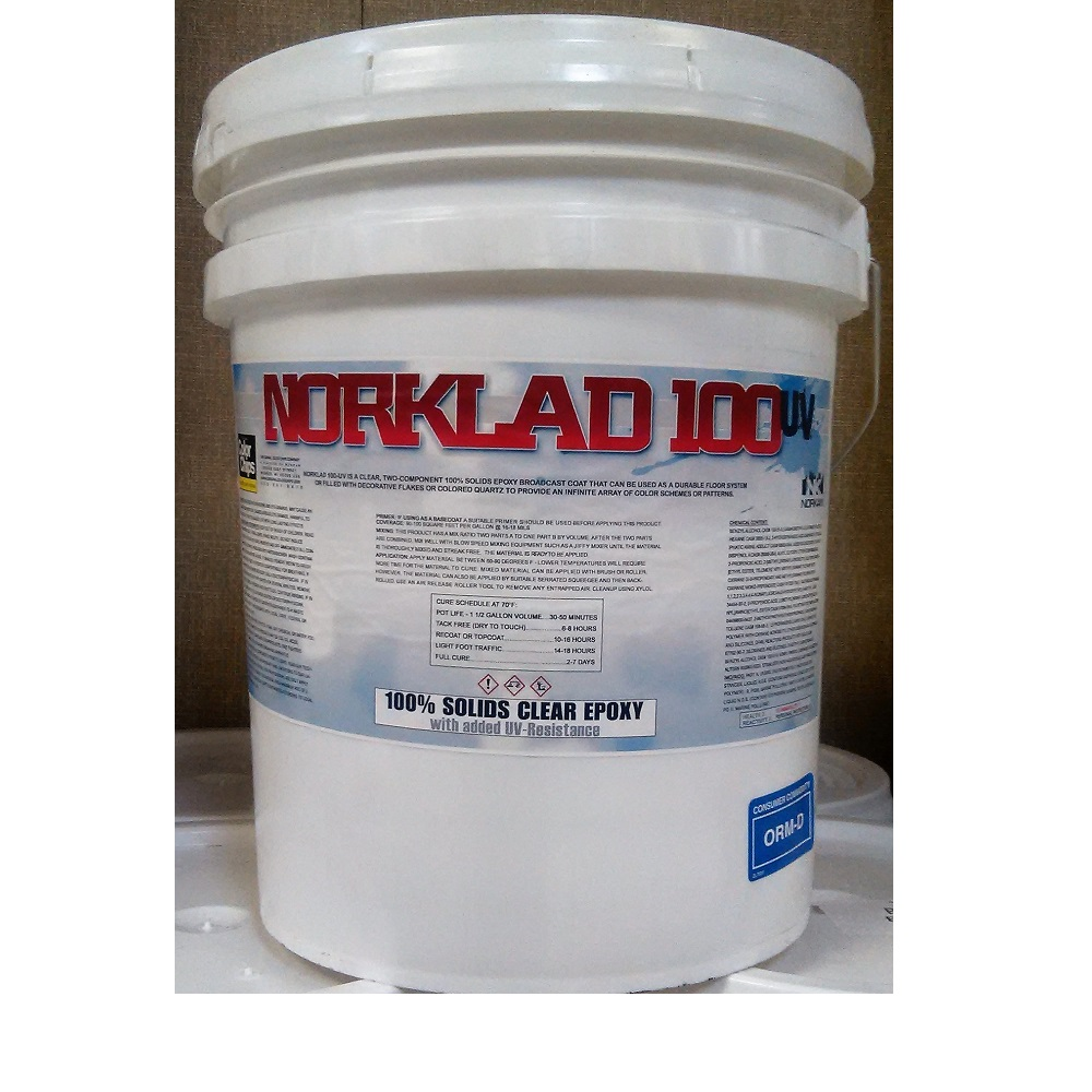 Norklad 100 UV - 100% Solids Epoxy Clear Coat Non-Yellowing 350+ sq/ft